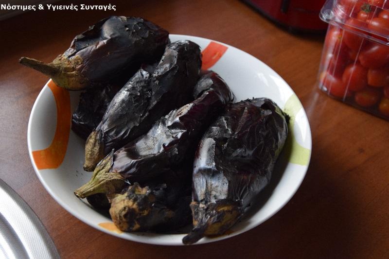 μπαμπαγκανούς ψημένες-καπνιστές-μελιτζάνες