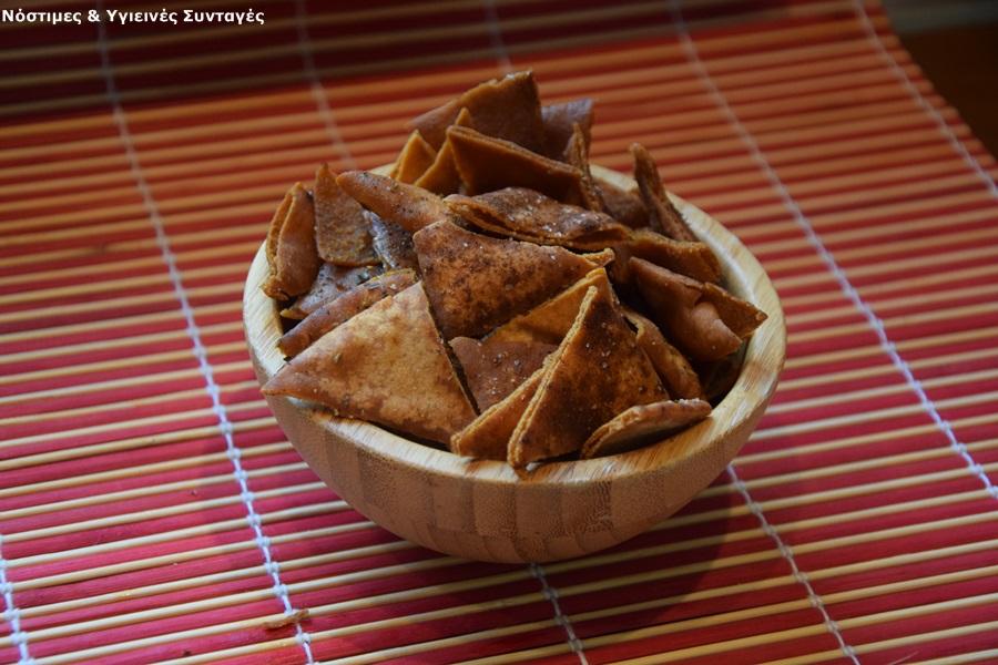 Τσιπς από αραβικές πίτες 2