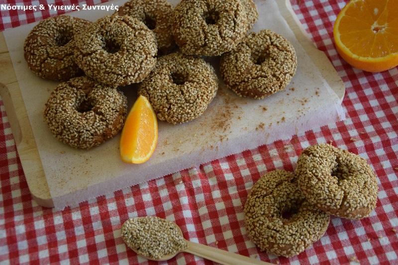 Κουλουράκια πορτοκαλιού με βρώμη, μέλι και σουσάμι 4