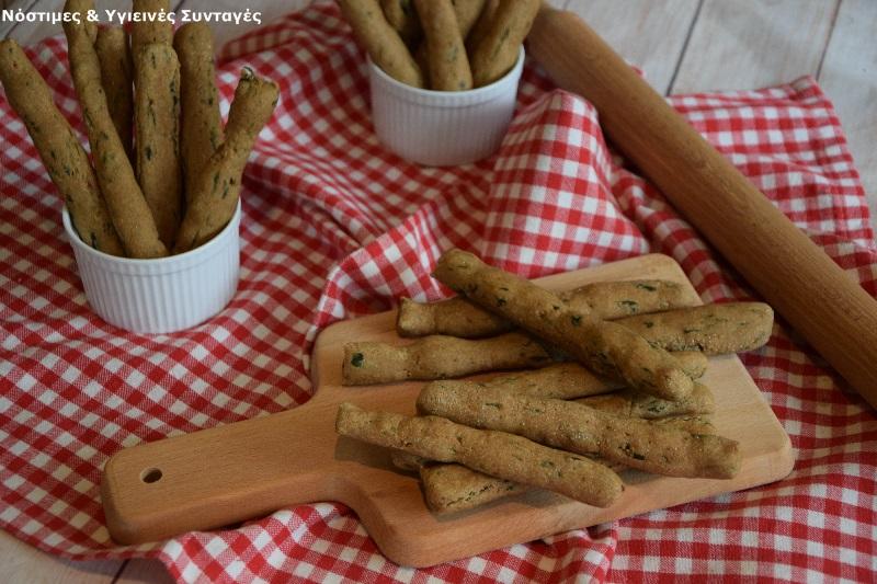 Κριτσίνια με αλεύρι Ζέας και σπανάκι 10