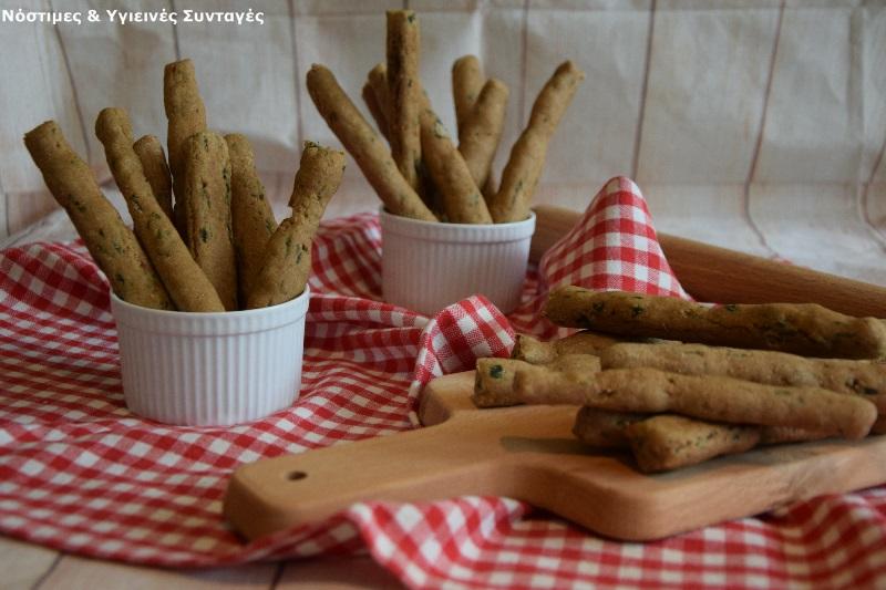 Κριτσίνια με αλεύρι Ζέας και σπανάκι 9
