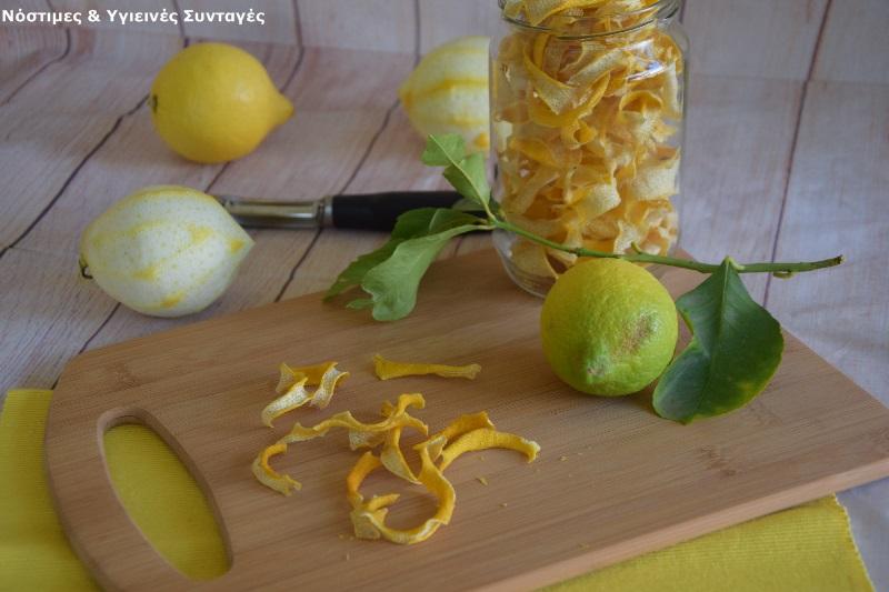 αποξηραμένες φλούδες λεμονιών 4