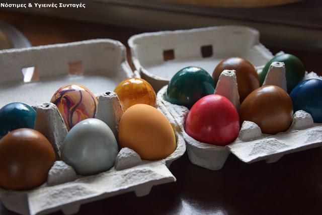 βαφή αυγών με οικολογικό τρόπο