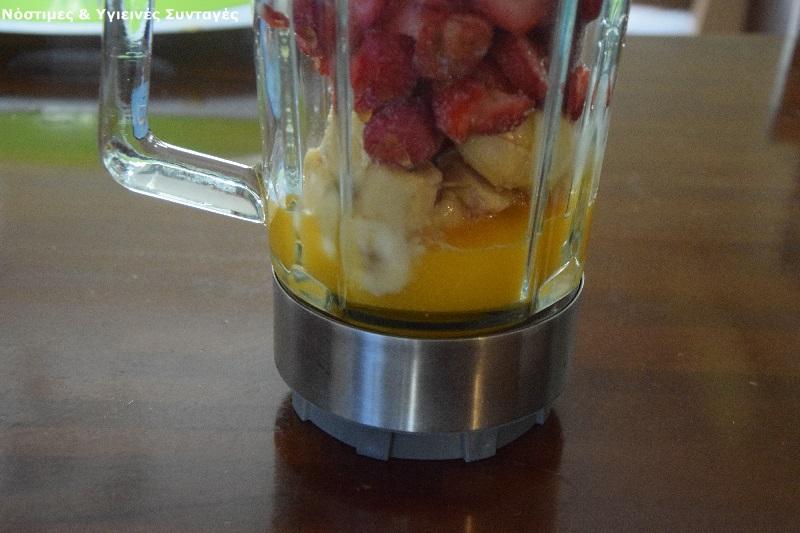 γρανίτα φράουλα-μπανάνα χωρίς ζάχαρη 4