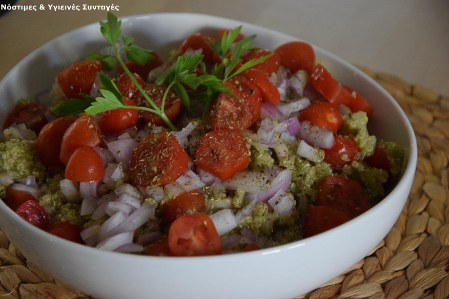 μαυρομάτικα με κινόα σαλάτα