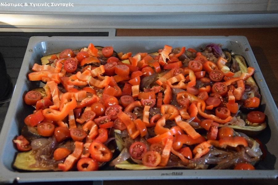 μελιτζάνες φούρνου με ντομάτα 9