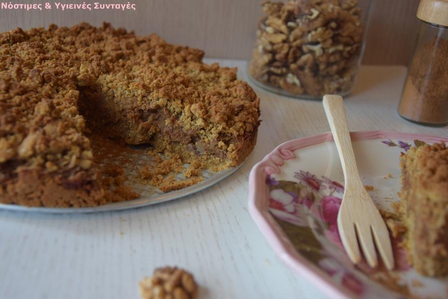 μηλόπιτα ολικής χωρίς ζάχαρη με ελαιόλαδο
