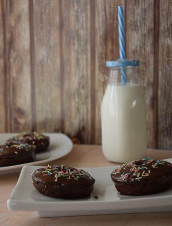 ντόνατ μπανανα σοκολατα φουρνου