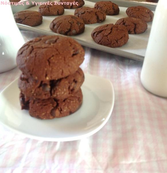 μπισκότα σοκολάτας με μέλι και ταχίνι 2