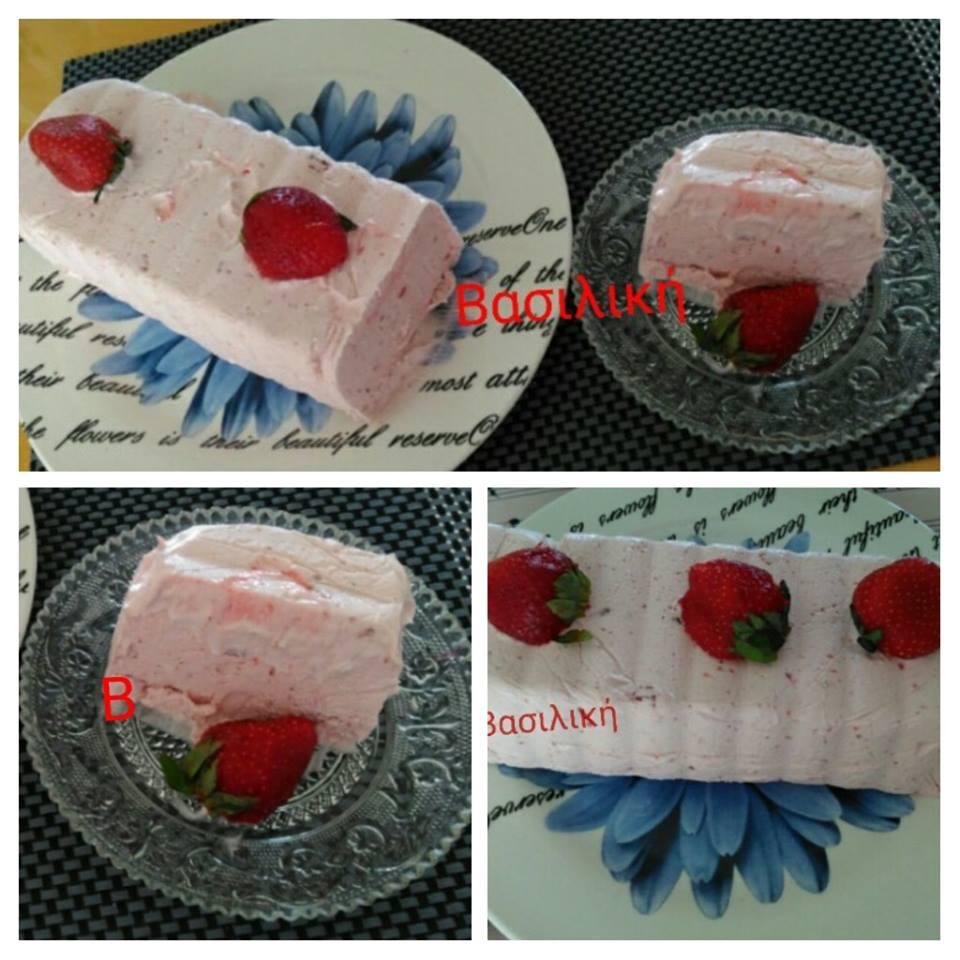 παγωτό φράουλα χωρίς ζάχαρη 10