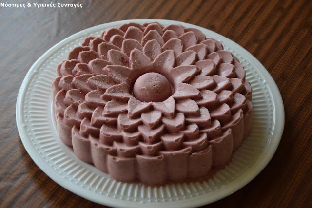 παγωτό φράουλα χωρίς ζάχαρη