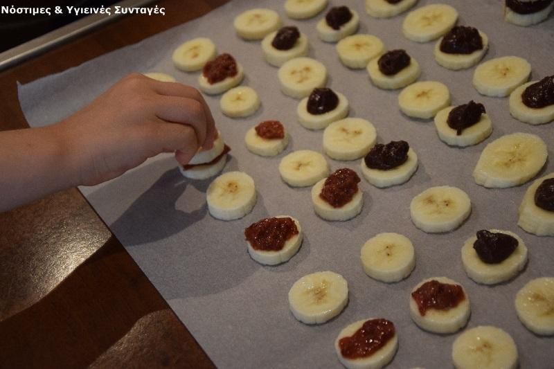 σοκολατένια σαντουιτσάκια μπανάνας 4