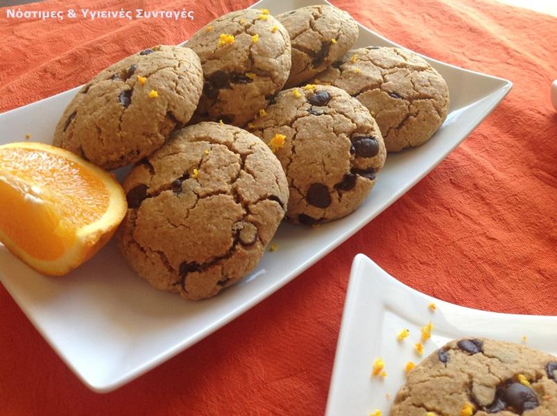 νηστίσιμα κουλουράκια πορτοκαλιού με βρώμη και σταγόνες σοκολάτας