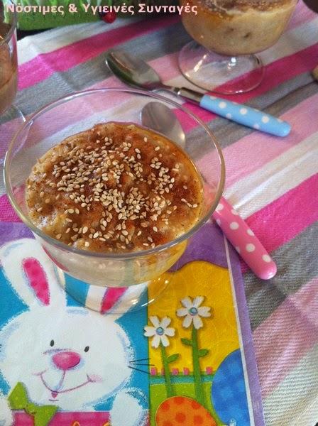 κρέμα βρώμης με γεύση τσουρέκι