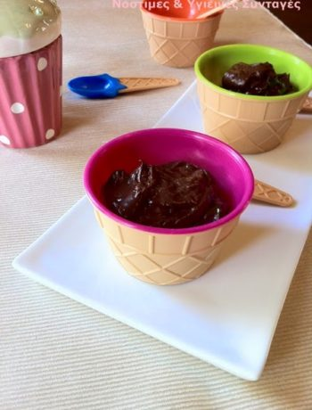 vegan μους σοκολάτα με αβοκάντο