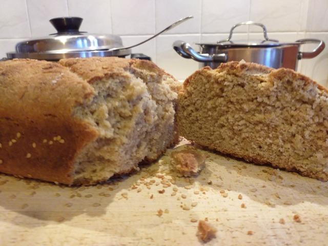 ψωμί με αλεύρι βρώμης