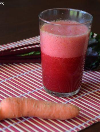 χυμος καροτο-παντζαρι-φραουλες