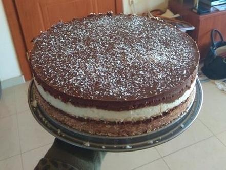 vegan-bounty-τούρτα-χωρίς -ζάχαρη