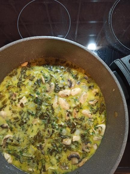 μαγειρίτσα με κοτόπουλο και μανιτάρια