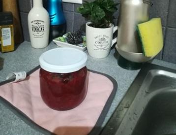 μαρμελάδα φράουλα με μέλι