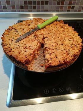 μηλόπιτα με κραμπλ χωρίς ζάχαρη