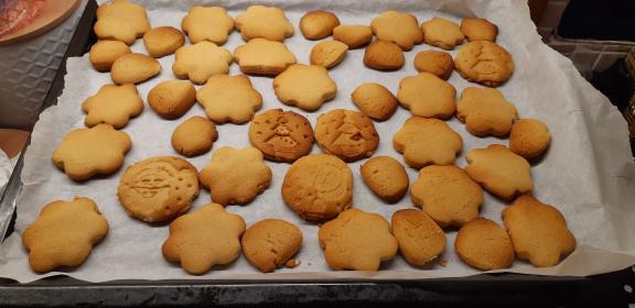 μπισκότα βουτύρου χωρίς ζάχαρη