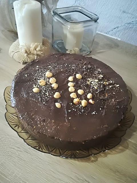 νηστίσιμη τούρτα με σοκολάτα, χωρίς ζάχαρη