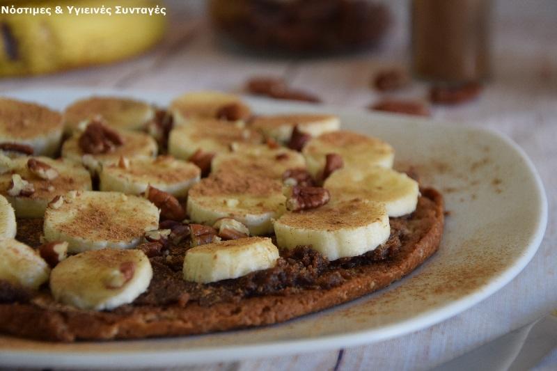 pancake βρώμης με μερέντα και μπανάνα 5