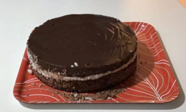 τούρτα Bounty χωρίς ζάχαρη