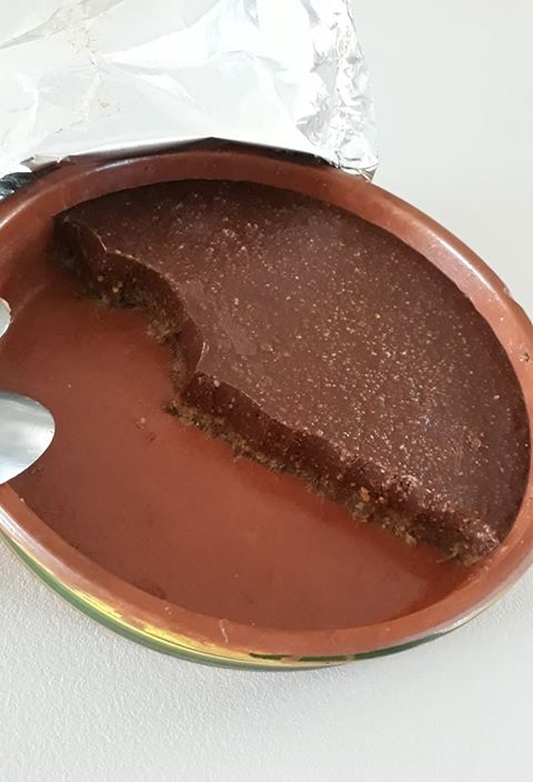 τούρτα σοκολάτα με γεύση καριόκα