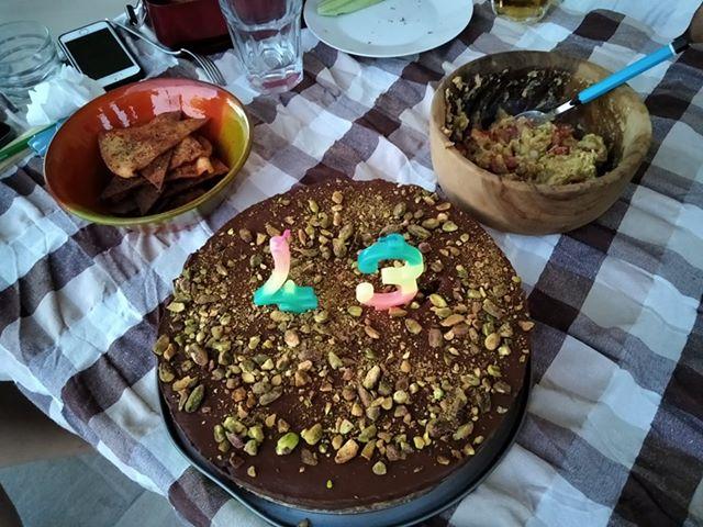 τούρτα με ξηρούς καρπούς