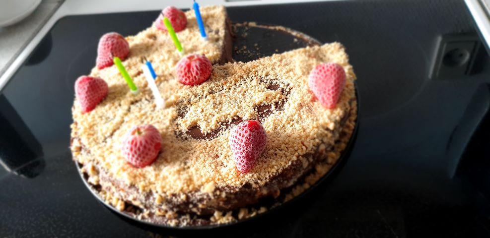 vegan τούρτα σοκολάτα