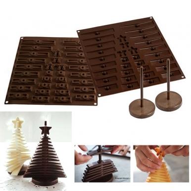 φόρμα σιλικόνης σοκολατένιο δέντρο