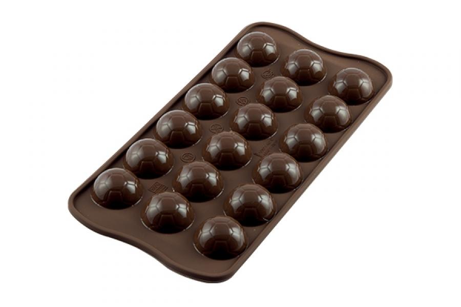 φόρμα σιλικόνης για στρογγυλά σοκολατάκια