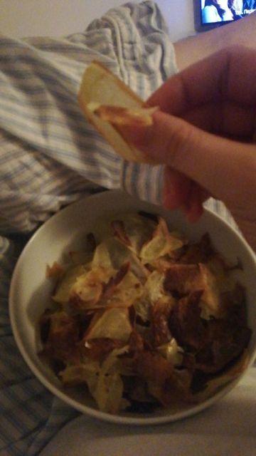 τραγανά πατατάκια φούρνου
