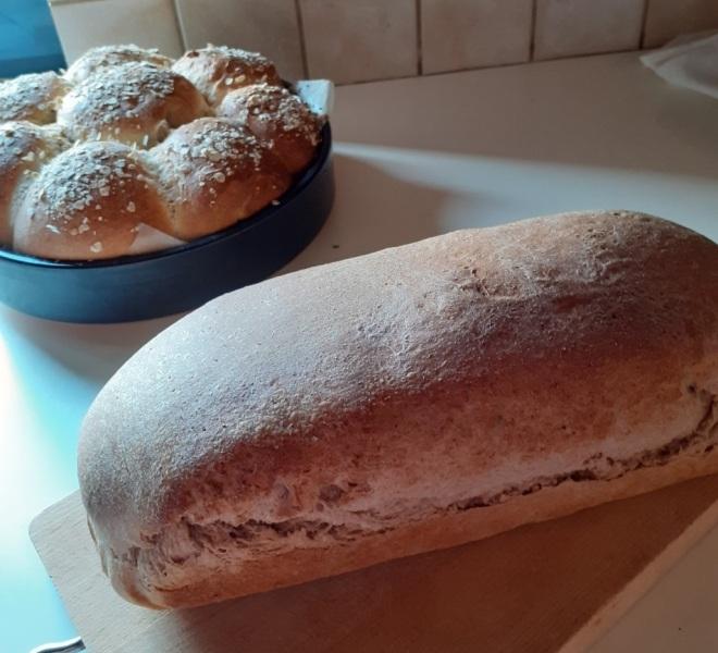 ψωμί του τοστ με αλέυρι Ζέας