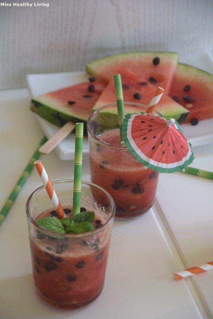 γρανίτα καρπούζι χωρίς ζάχαρη με μαστίχα