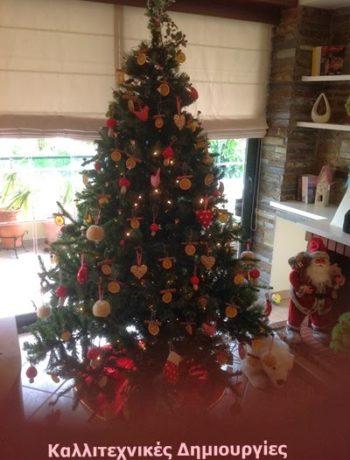 Εναλλακτικό Χριστουγεννιάτικο δέντρο με οικολογικά στολίδια