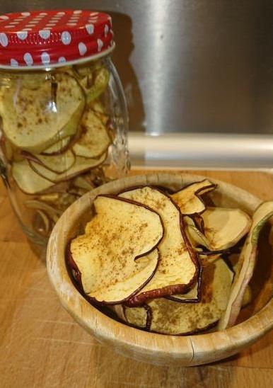 τσιπς μήλου χωρίς ζάχαρη και συντηρητικά