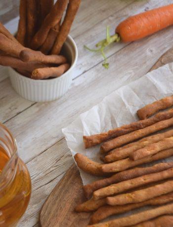 κριτσίνια καρότου με αλεύρι Ζέας και φαγόπυρου