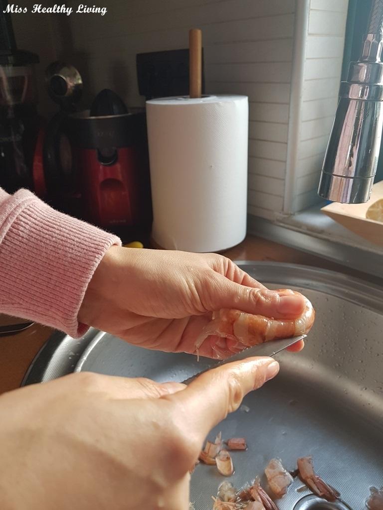πώς καθαρίζονται οι γαρίδες