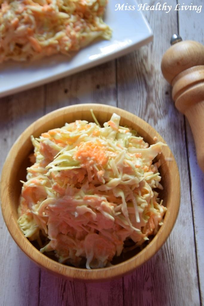 σαλάτα με λάχανο coleslaw